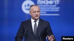 Президент Молдовы Игорь Додон (архивное фото)