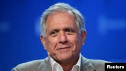 Leslie Moonves, Chairman and CEO of CBS Corporation, speaks during the Milken Institute Global Conference in Beverly Hills, California, May 3, 2017.