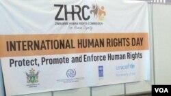 Kunanzwa usuku lweInternational Human Rights Day. (VOA)