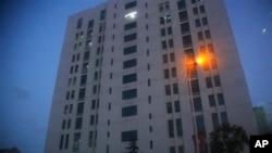 중국 인민해방군 소속 '해킹 부대' 시설로 알려진, 상하이 외곽의 12층 건물.