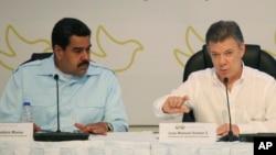 Los enfrentamientos entre los presidentes Nicolás Maduro y Juan Manuel Santos continúan ahora por la presunta violación del espacio aéreo colombiano.
