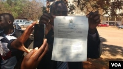 Report on Harare Protest Filed By Thomas Chiripasi
