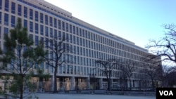 FILE - The U.S. Department of Education in Washington, D.C.