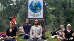 部份抗議人士在紐約中央公園