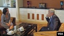 Kazakh FM Erlan Idrissov talks to Navbahor Imamova VOA 7-9-13