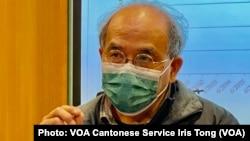 香港民意研究所副行政總裁鍾劍華表示,1月19日公佈的民調結果,不但反映警方1-06大搜捕之後的民情,亦反映國安法實施超過半年之後,實際上未能令香港重返正軌 (攝影:美國之音湯惠芸)