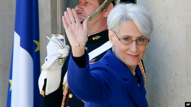 (File) U.S. Undersecretary of State for Political Affairs Wendy Sherman in Paris, May 17, 2014.