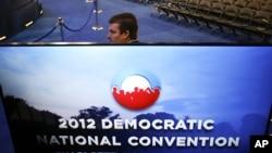 Un agente del Servicio Secreto monta guardia en la sede la Convención Nacional Demócrata, en Charlotte, Carolina del Norte, el martes 4 de septiembre de 2012.