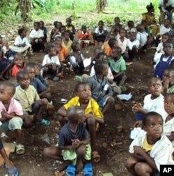 来自刚果民主共和国的难民儿童
