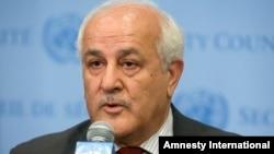 Duta Besar Palestina untuk PBB, RIyad Mansour.