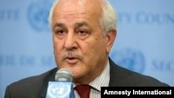 资料照 巴勒斯坦大使曼苏尔