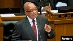 FILE - South Africa's President Jacob Zuma in Cape Town.