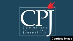 保护记者协会标徽