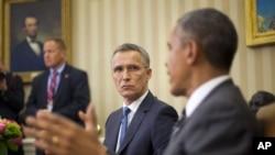 Tổng thống Obama và Tổng thư ký NATO Jens Stoltenberg tại Nhà Trắng.