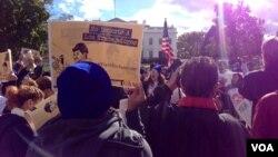 Imigranti i aktivisti protestuju ispred Bele kuće