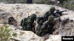 지난해 5월 에스토니아 군이 나토의 에커미스 연례 군사훈련에 참가했다. (자료사진)