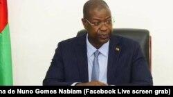 Le Premier ministre Nuno Gomes Nabiam, en Guiné-Bissau, le 6 novembre 2020.