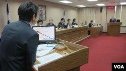 台灣立法院外交及國防委員會5月31日質詢的情形