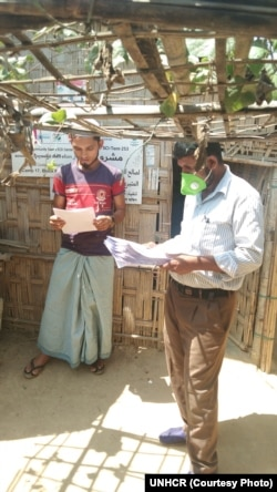 Caregiver Guidance Notes Dictribution in Rohingya Refugee Camp, Cox's Bazar, Bangladesh