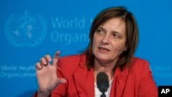 FILE - Marie-Paule Kieny, Director of the Initiative for Vaccine Research of the World Health Organization (WHO).