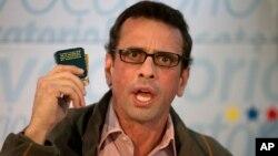"""""""Nos gustaría que existiese reconciliación y diálogo. No queremos golpe de Estado"""", dijo Capriles."""