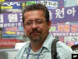 Lourenço Medeiros, editor de Novas Tecnologias da SIC, durante uma reportagem na Coreia do Sul.