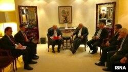 دیدار ظریف با وزیر خارجه بریتانیا در حاشیه اجلاس امنیتی مونیخ