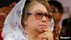 Khaleda Zia, présidente du Parti Nationaliste du Bangladesh.
