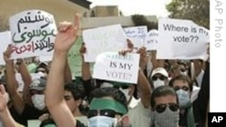 Post-election protests in Iran, June, 2009.