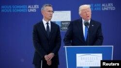 Rais Donald Trump akiwa Makao Makuu ya NATO