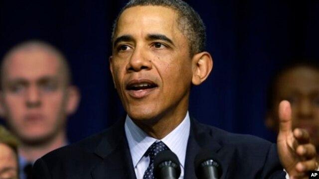19일 백악관에서 연설하는 바락 오바마 미국 대통령.