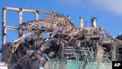 지난 9월 지진으로 파괴된 원자로