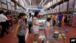 중국 남부도시 광저우의 월마트 매장. (자료사진)