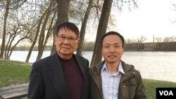 Tướng Lê Minh Đảo và tác giả bài viết.