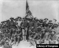 Theodore Roosevelt at San Juan Hill, 1898