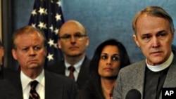 David Beckmann na tiskovnoj konferenciji na kojoj je najavio prosvjedno gladovanje
