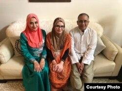 Warga Indonesia, Fetty Shahab bersama keluarga di Portland, Oregon (dok: Fetty Shahab)