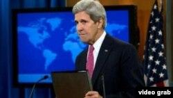美国国务卿克里(国务院视频)