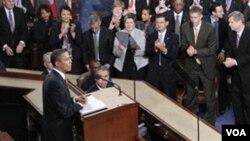 Presiden Barack Obama akan menyampaikan pidato kenegaraan di hadapan Kongres AS, Selasa, 12 Februari 2012 (Foto: dok).