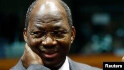 L'ex-ministre des affaires étrangères du Burkina Djibrill Bassolé lors d'une visite à Bruxelles, 5 février 2013.