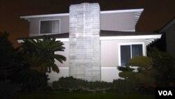 被指為比特幣創造者中本聰在洛杉磯縣的住宅外觀 (美國之音 國符拍攝)