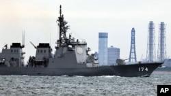 日本海上自卫队雾岛号神盾驱逐舰(资料照)