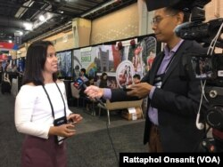 Assistant Dean of Chulalongkorn Business School: CBS, Ajarn Wila-sini Wongkaew ,Ph.D. talks with VOA Thai during the NAFSA 2018 Annual Conference in Philadelphia, PA.