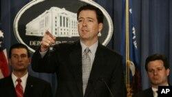 Tsohon shugaban hukumar binciken manyan laifuka ta FBI, James Comey.