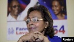Kandida alaprezidans sou banyè Fanmi Lavalas Dr. Maryse Narcisse ki tap reponn kesyon jounalis Reuters nan Pòtoprens, Ayiti, 25 janvye, 2016.