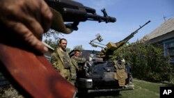 Proruski separatisti u Donjecku, u istočnoj Ukrajini