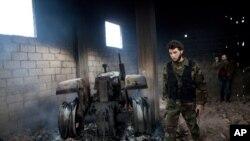 Sarmine en Syrie, site d'une attaque au chlore (AP)