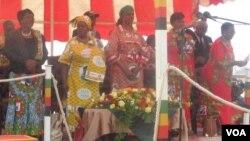 Mrs. Grace Mugabe in Chinhoyi, Mashonaland West Province.