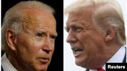 Mantan wakil presiden Joe Biden, capres dari Partai Demokrat dan petahana Presiden AS Donald Trump dari Partai Republik. (Foto: Reuters)