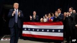 گزارش تصویری از حضور ترامپ در تور سپاسگزاری در ویسکانسین